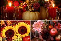 art floral automne citrouille