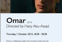 Cinema: Omar (2014) Directed by Hany Abu-Assad / Omar is a Palestinian baker who routinely climbs over the separation wall to meet up with his girl Nadia. By night, he's either a freedom fighter or a terrorist—you decide—ready to risk his life to strike at the Israeli military with his childhood friendsTarek and Amjad. Arrested after the killing of an Israeli soldier and tricked into an admission of guilt by association, he agrees to work as an informant.  Academy Award Nominee: Best Foreign Language Film of the Year,2014