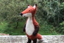 Needle Felted Foxes / Woodlanders' very own needle felted foxes.