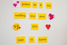 Best Wedding Wishes DIY Photo Booth Backdrop / Looking for a creative and memorable wedding photo booth idea? Spell out your best wishes for the happy couple with this simple and clever Best Wedding Wishes DIY Photo Booth Backdrop!