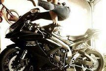Bending and Balancing on Motorcycles / Bending and Balancing on Motorcycles... Yoga meets badass.