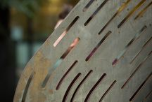 Confessions at The Bench / Public Art Commission by The Royal College of Art London, Corten Steel.