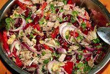 letne salaty  s cestovinou