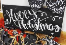 """Christmas is all Around / """"Wham! - Last Christmas"""" - Il Natale è MAGIA!!! Le nostre proposte creative natalizie sono molte e continuano ad aumentare"""" Una lavagnetta e c'è subito la giusta atmosfera sognante, dolce, magica!!!"""