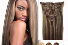 "20"" Clip-in Hair Extensions / 20"" Clip-in Hair Extensions. Available in these colours, BUY ONLINE VIA HAIREXTENSIONSALE http://tinyurl.com/o8x4s8q"