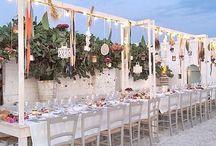 21st June 2014 Masseria Potenti APULIA / Olivia & Stefano  Wedding Design: Chic weddings in Italy Flower Decor: La Rosa Canina FIRENZE Photography: Cinzia Bruschini Video: Origamy Videography Venue: Masseria Potenti / by La Rosa Canina FIRENZE