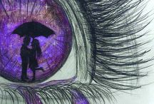 eyes drawing with color