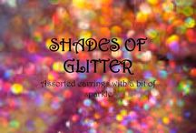 SHADES OF GLITTER / Unique, handmade earrings in shades of GLITTER