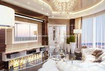Дизайн интерьера пентхауса в ЖК Дубровка в стиле Модерн / За основу дизайна интерьера взят стиль модерн. В пентхаусе в ЖК Дубровка имеется вместительная гостиная, большая ванная и лестница, ведущая к тренажёрному залу.  В квартире преобладают мягкие цвета. Оттенки бежевого и коричного создают спокойствие, тепло и уют. Во всех комнатах много естественного света.
