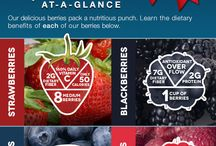 Berry Nutrition / Berries are all too good for you! #healthy #infographics #nutrition / by California Giant Berry Farms