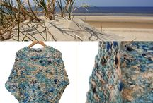 Knitwear / Handgebreide kleding. Knitted clothes.  Handgemaakt. Handmade.  Vesten. Sjaals. Omslagdoeken. Jurken. Wol. Wool. Shawls. Dress.  Collages. Creaties. Creations.