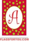 Christmas Ornament Monogram Flag