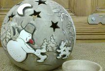 keramické koule  a jiné prořezavané