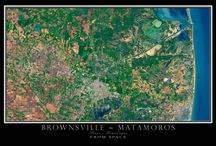 TEXAS FROM SPACE / SATELLITE IMAGE POSTERS OF THE GREAT STATE OF TEXAS