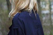 Dun blond haar
