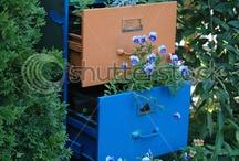 DIY Filing Cabinet Planter