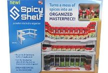 Spicy Shelf / Spicy Shelf turns a mess of spices into an organized masterpiece!