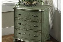 Blue and green technique furniture