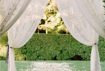 Wedding -- wedding canopy ideas / by Ashley Byington