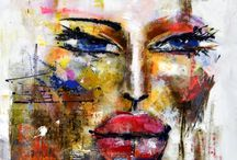 Faces / A collection of mixed media art from Koyman Galleries.