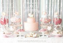 A&K Lolly Buffet {Pretty in Pink Baby Shower Dessert Buffet} / http://aandklollybuffet.com.au/pink-baby-shower-dessert-table/