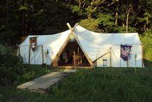 Viking telt, treskjæring m.m. / Vikingrelaterte ting