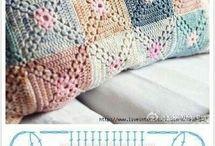 poduszki, koce szydełkowe