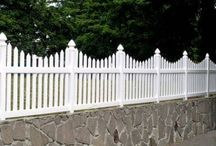 Front fence (with rock)