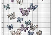 Бабочки / Вышивка крестиком