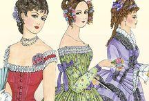 женская мода прошлых столетий