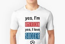 Soccer (Football) Apparel @ Redbubble / A range of quality soccer (football) t-shirts, hoodies, and gifts ideas, available to purchase on Redbubble.