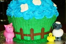 giant farm cupcake