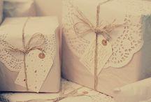 Idées des cadeaux  / Cadeautjes inpakken....een leuke hobby!