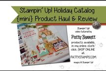 2015 Holiday Catalog Stampin UP / Handmade cards, Christmas cards, crafts, DIY home decor and holiday ideas from the Stampin Up! 2015 Holiday catalog! Let me know if you need a copy! / by Patty Bennett