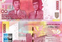 Billets Indonésie / La roupie indonésienne ou rupiah (IDR) est l'unité monétaire de l'Indonésie. Les billets de banque Indonésie en circulation sont : 1000, 2000, 5000, 10 000, 20 000, 50 000, 100 000 roupie indonésienne. Le 19 décembre 2016, la Banque Indonésie (Bank Indonesia) a dévoilé les nouveaux billets à l'effigie des héros nationaux, présente aussi des photos de danse archipel et des paysages de diverses régions en Indonésie. Pour le moment, les nouveaux billets ne sont pas encore en circulation.