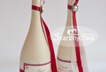 Бутылки бокалы