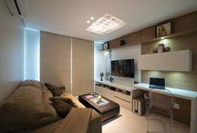 Sala de TV  e Office integrados