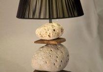 lamparas de mesa / handmade driftwood lamp  natural design