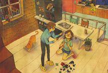 illustration-love simple little things