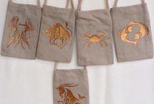 Zodiac / Handmade Zodiac Bags for mobile phones etc. (16x11 cm, Magnet Snap)