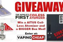 Win a AlTUS coil-less atomizer and BIG-GER Box Mod from @VapingCheap -