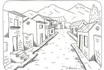 Dibujo: paisaje
