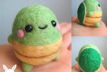 Needle Felting Inspiration and Tutorials / Cute regular and japanese needle felting projects I needs to try. Some DIY with instructions, some just inspiration.