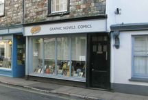 Us! Your friendly local comic shop! / Our bricks-and-mortar shop location in Ashburton, near Newton Abbot in Devon, UK. We're just on the edge of Dartmoor national park too!