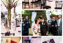 Purple Albuquerque Museum Wedding / Corazón Events transformed the Albuquerque Museum into an elegant purple and black wedding reception with New Mexico flair. This venue is in the heart of Old Town Albuquerque, with dramatic garden sculptures and photo opportunities that showcase the local culture.  Agave Florist Nob Hill-Flowers / Complete Weddings & Events-DJ / Stacey Adams-Photography / Design and decor was Corazon #newmexico #wedding #NewMexicoTrue #oldtown #albuquerquemuseum #weddinginspo #customdesign #gardenwedding #purple