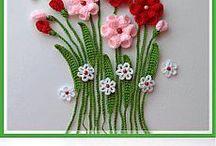 Crochet Flower Wall Art