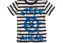 AHOY, THERE! / Kids' fashion with a nautical theme.