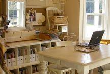 sewing work room / by Mary Fluaitt