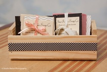 Party Ideas / Gift giving made easy with these Scentsational Gift Baskets.  Great for give aways or can be scaled down for Party favors / by New Prairie Soap Co