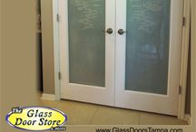 Pantry Doors / Etched glass Pantry doors